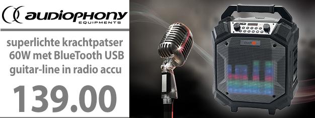 Audiophony BOOMBOX 60 Watt krachtpatser