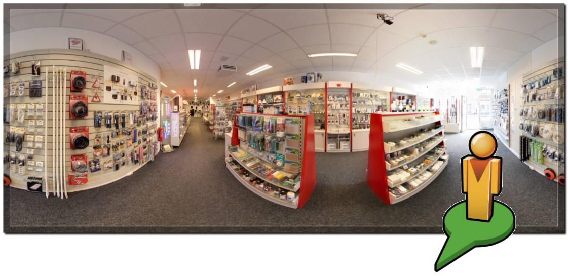 Baur Electronics Venlo virtuele winkel Google streetview