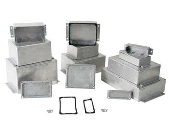 Aluminium behuizingen met flens