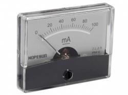 analoge paneelmeter voor dc stroommetingen 100ma dc / 60 x 47mm - aim60100