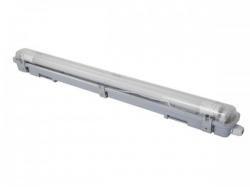 plafondlamp met t8-ledlamp - waterdicht - buis - 65.5 cm - neutraalwit - leda97nw