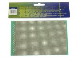 eurocard 1 gat per eiland - 100x160mm - fr4 (1st./bl.) - ECS1