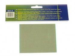 eurocard 1 gat per eiland - 100x80mm - fr4 (1st./bl.) - ECS1/2