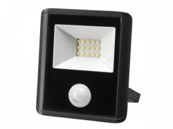 led-schijnwerper voor buitenshuis - 10 w, neutraalwit - zwart - pir-sensor - leda7001nw-bp
