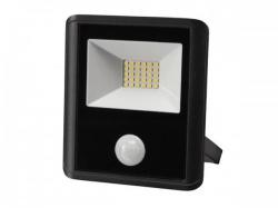 led-schijnwerper voor buitenshuis - 20 w, neutraalwit - zwart - pir-sensor - leda7002nw-bp