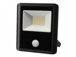 led-schijnwerper voor buitenshuis - 50 w, neutraalwit - zwart - pir-sensor - leda7005nw-bp