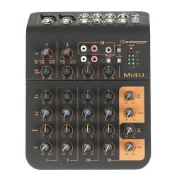 Mengpaneel 4 kanalen, 2 micro, 2 stereo, 1 aux en USB poort - mi4u