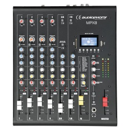 8 channel mixer with compressor, effects and USB/SD/BT Player - mpx8