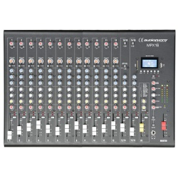 16 channel mixer with compressor, effects and USB/SD/BT Player - mpx16