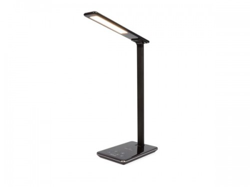 dimbare led-bureaulamp + draadloze oplader - 48 leds - abs + aluminum - efl60