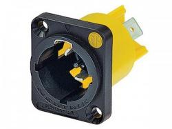 powercon® true1 16a, mannelijk chassisdeel - nac3mpx