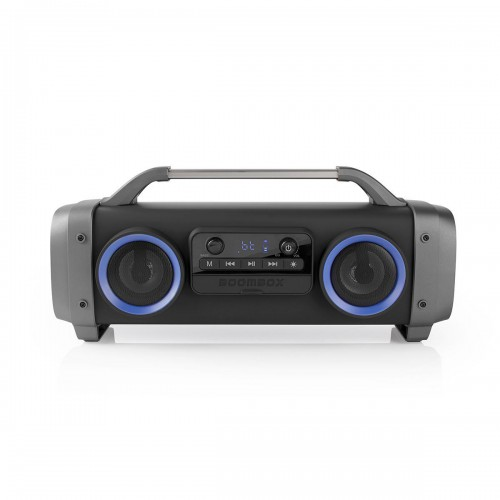 Party Boombox | 3 Hours Playtime | Bluetooth® Wireless Technology | FM Radio | Party Lights | Black - spbb300bk