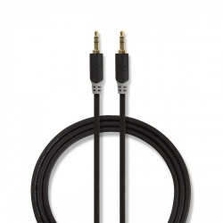 Stereo audiokabel   3,5 mm male - 3,5 mm male   10 m   Antraciet - cabw22000at100
