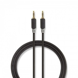 Stereo audiokabel   3,5 mm male - 3,5 mm male   3,0 m   Antraciet - cabw22000at30