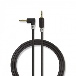 Stereo audiokabel | 3,5 mm male - 3,5 mm male haaks | 1,0 m | Antraciet - cabp22600at10