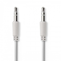 Stereo-Audiokabel, Spiraal | 3,5 mm Male - 3,5 mm Male | 1,0 m | Wit - cagp22010wt10