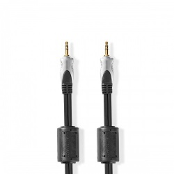 Stereo-Audiokabel | 3,5 mm Male - 3,5 mm Male | 2,50 m | Antraciet - cagc22000at25