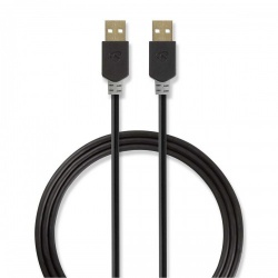 Kabel USB 2.0 | A male - A male | 2,0 m | Antraciet - ccbw60000at20
