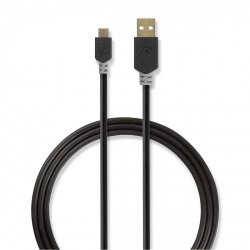 Kabel USB 2.0 | A male - Micro-B male | 3,0 m | Antraciet - ccbw60500at30