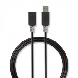 Kabel USB 3.0 | A male - A female | 2,0 m | Antraciet - ccbw61010at20
