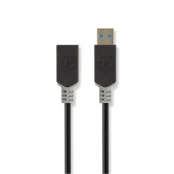 Kabel USB 3.0 | Type-C male - A female | 0,15 m | Antraciet - ccbw61710at015