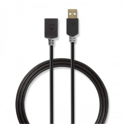 Kabel USB 2.0 | A male - A female | 2,0 m | Antraciet - ccbp60010at20