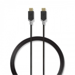 Kabel USB 2.0 | Type-C male - Type-C male | 1,0 m | Antraciet - ccbp60700at10