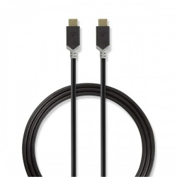 USB 3.1-kabel (Gen2) | Type-C male - Type-C male | 1,0 m | Antraciet - ccbp64750at10