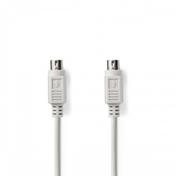 PS2-Kabel | PS/2 Male - PS/2 Male | 2,0 m | Ivoor - ccgp51000iv20