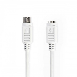 PS2-Kabel | PS/2 Male - PS/2 Female | 2,0 m | Ivoor - ccgp51100iv20