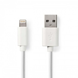 Sync and Charge-Kabel | Apple Lightning 8-Pins Male - USB-A Male | 1,0 m | Wit - ccgw39300wt10