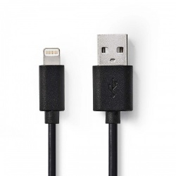Sync and Charge-Kabel | Apple Lightning 8-Pins Male - USB-A Male | 2,0 m | Zwart - ccgw39300bk20