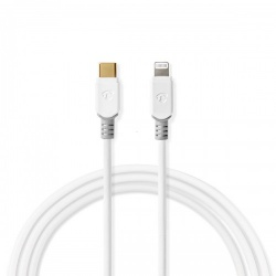 Apple Lightning-Kabel | Apple Lightning 8-Pins Male - USB-C | 3,00 m | Wit - ccbw39650wt30