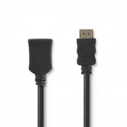 High Speed HDMI™-kabel met Ethernet | HDMI™-connector - HDMI™ female | 1,0 m | Zwart - cvgp34090bk10