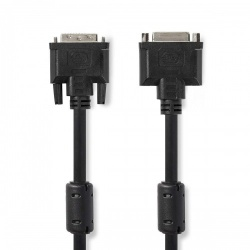 DVI-Kabel | DVI-I 24+5-Pins Male - DVI-I 24+5-Pins Female | 2,0 m | Zwart - ccgp32055bk20