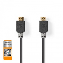 Premium High Speed HDMI™-Kabel met Ethernet | HDMI™-Connector - HDMI™-Connector | 1,00 m | Antraciet - cvbp34050at10
