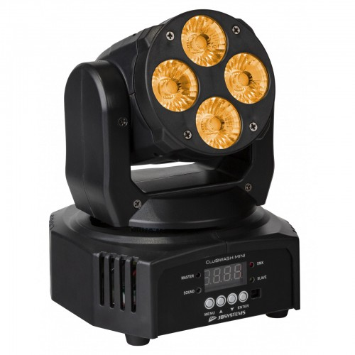 Moving Wash 4 x 12 Watt 6 in 1 Zeer compacte krachtpatser - clubwash mini