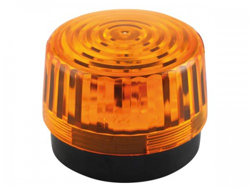 led-knipperlicht - amber - 12 vdc -  ø 100 mm - haa100an