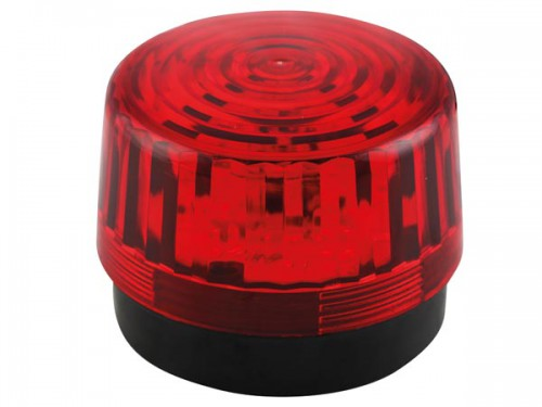 led-knipperlicht - rood - 12 vdc -  ø 100 mm - haa100rn