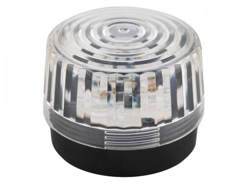 led-knipperlicht - transparant - 12 vdc -  ø 100 mm - haa100wn