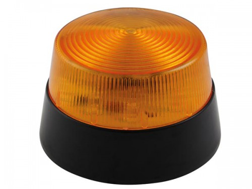 led-knipperlicht - amber - 12 vdc -  ø 77 mm - haa40an