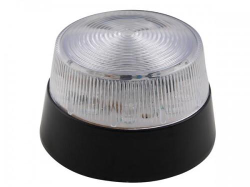 led-knipperlicht - transparant - 12 vdc -  ø 77 mm - haa40wn