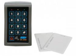 digitaal codeklavier met kaartlezer - 3 relaisuitgangen - weerbestendig - haa2866n