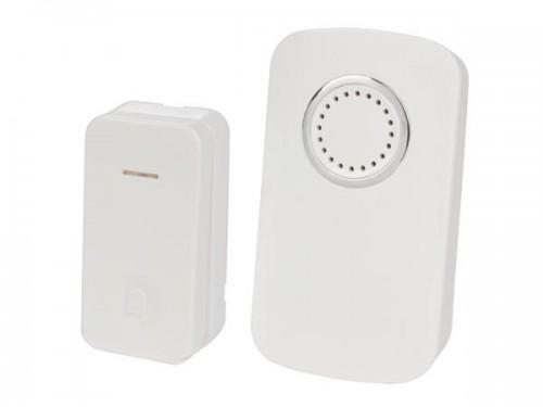 draadloze plug-in deurbel met 1 drukknop op kinetische energie - edkp1
