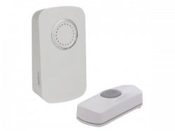 draadloze deurbel op batterijen - 1 drukknop - edm1