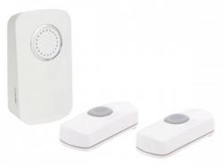 draadloze deurbel op batterijen - 2 drukknoppen - edmtw