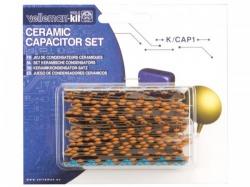 set keramische condensatoren -  224 st. - 10pf tot 220nf - k/cap1