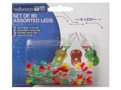 set leds - 80 st. - 2 groottes - 3 kleuren - k/led1