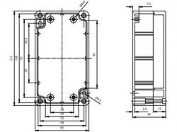 waterbestendige abs-behuizing - donkergrijs 115 x 65 x 40mm - g304