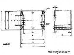 waterbestendige abs-behuizing - donkergrijs 115 x 90 x 80mm - g331